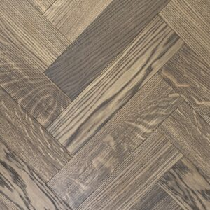 15mm Greige Oak Brushed & Oiled Herringbone | Best at Flooring