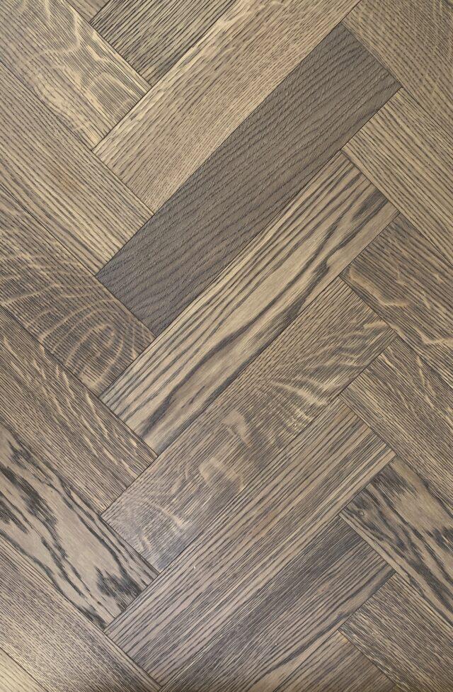 15mm Greige Oak Brushed & Oiled Herringbone | Best at Flooring