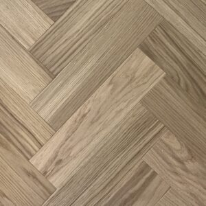 15mm Natural Oak Brushed & Oiled Herringbone | Best at Flooring