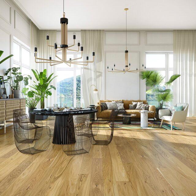 14mm Oak Select Brushed & Matt Laquered Click | Best at Flooring