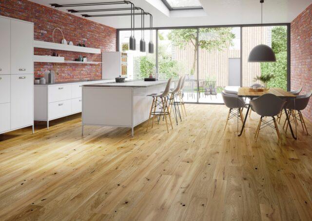 14mm Rustic Oak Brushed & Natural Oiled Click | Best at Flooring
