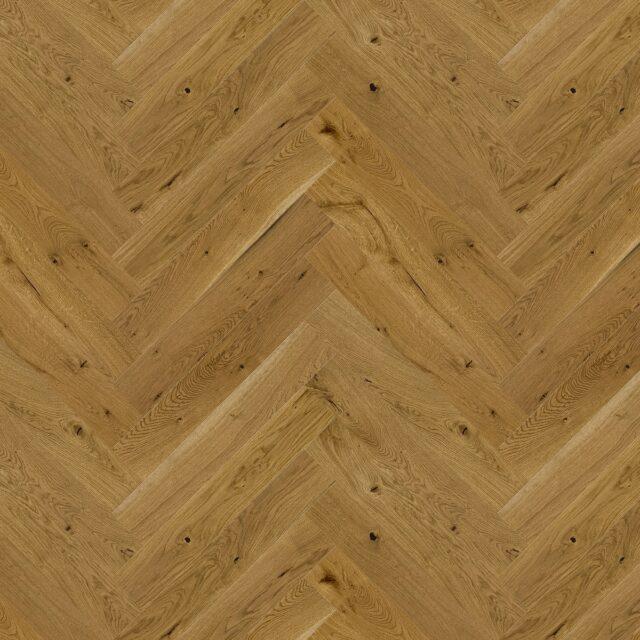 Antique Oak Brushed & Matt Lacquered Herringbone Click | Close Up