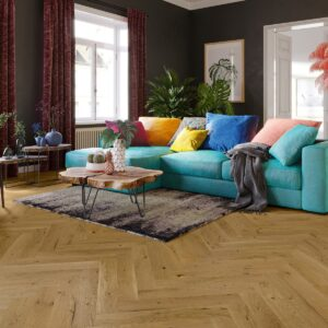 Antique Oak Brushed & Matt Lacquered Herringbone Click | BestatFlooring