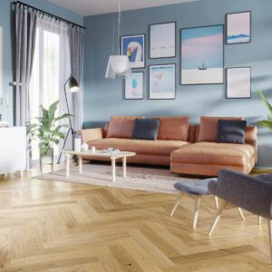 Oak Select Brushed & Matt Lacquered Herringbone Click | Best at Flooring
