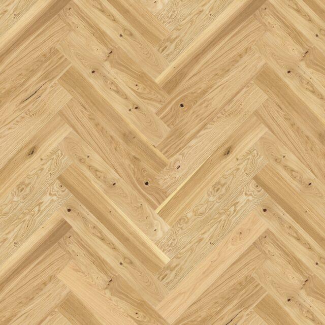 Light Oak Brushed & Natural Oiled Herringbone Click | Close Up