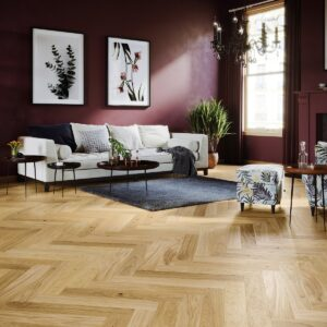 Natural Oak Brushed & Natural Oiled Herringbone Click | Best at Flooring