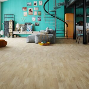 3-Strip White Washed Oak Lacquered Click | Best at Flooring