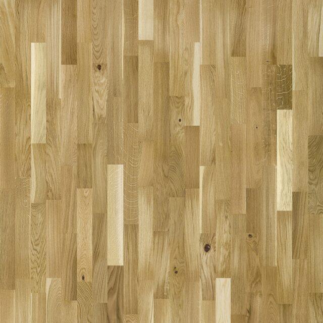 3-Strip Natural Oak Lacquered Click | Close Up