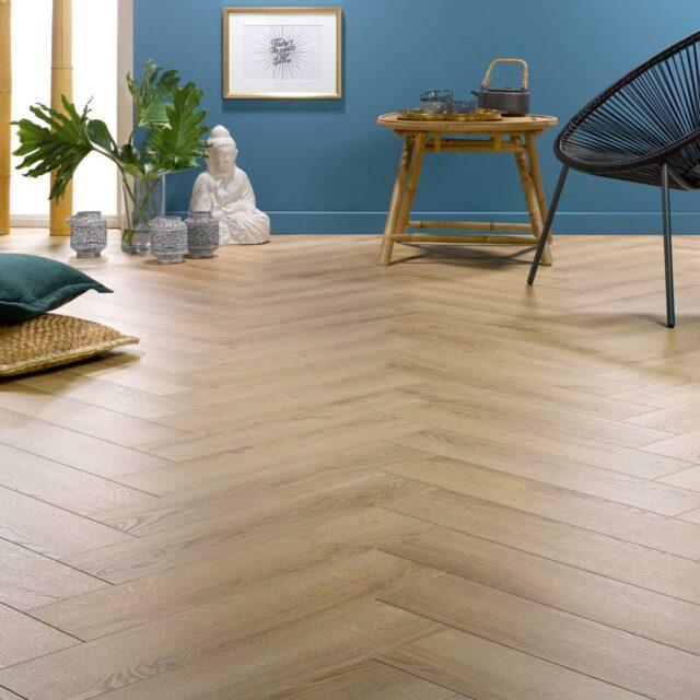 NEHE50 Shortbread Oak | V4 Natureffect Herringbone | BestatFlooring