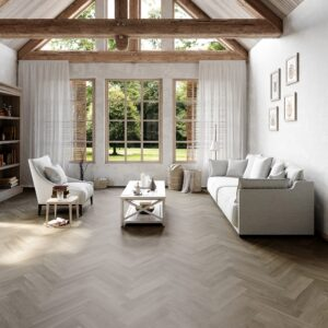 New England Oak Herringbone Dusk | Invictus Maximus | Living Room