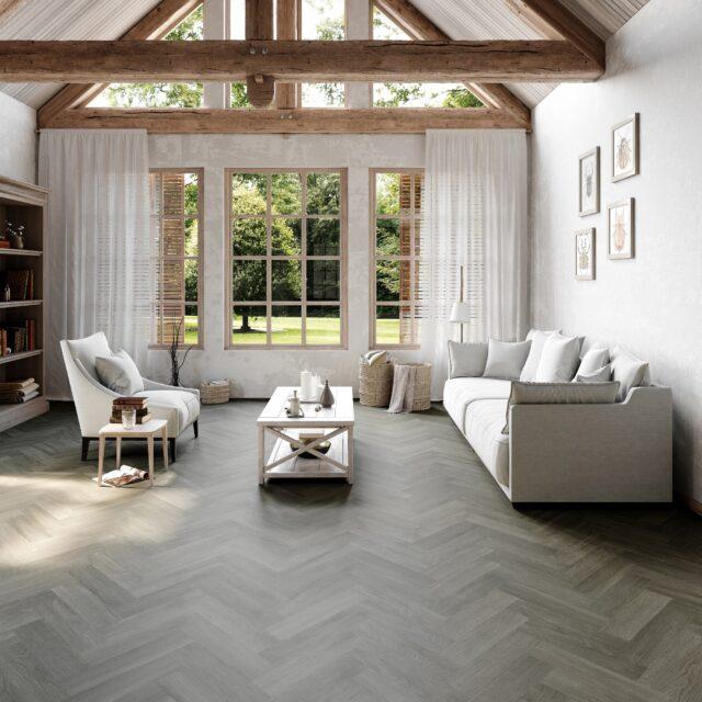 New England Oak Herringbone Misty | Invictus Maximus | Living Room