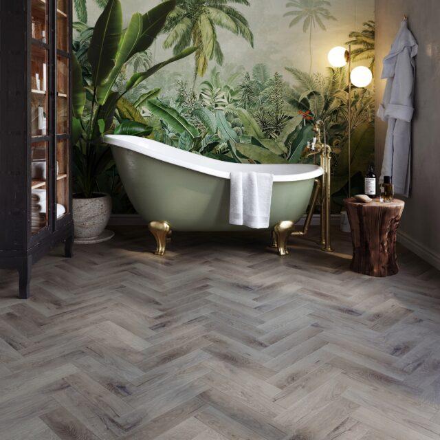 Royal Oak Dove Herringbone | Invictus Primus | Bathroom