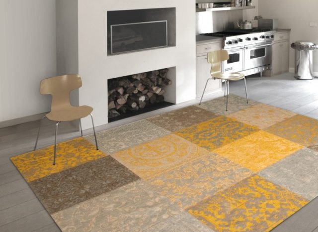 8084 Yellow | Louis de Poortere Vintage Collection Rugs | Best at Flooring