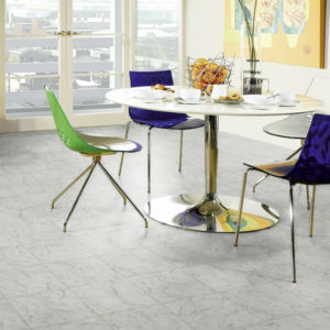 Carrara Marble - Knight Tile | Room View