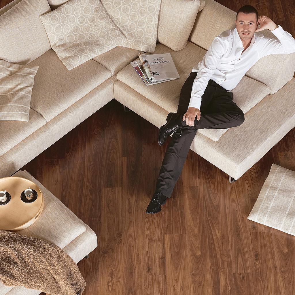 Quick Step Laminate | Eligna | Oiled Walnut Planks EL1043