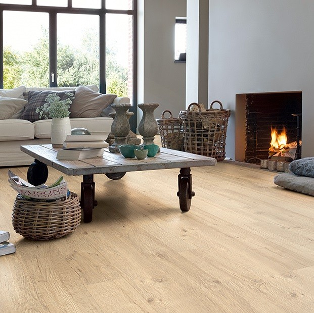 Quick Step Laminate | Impressive | Sandblasted Oak Natural IM1853