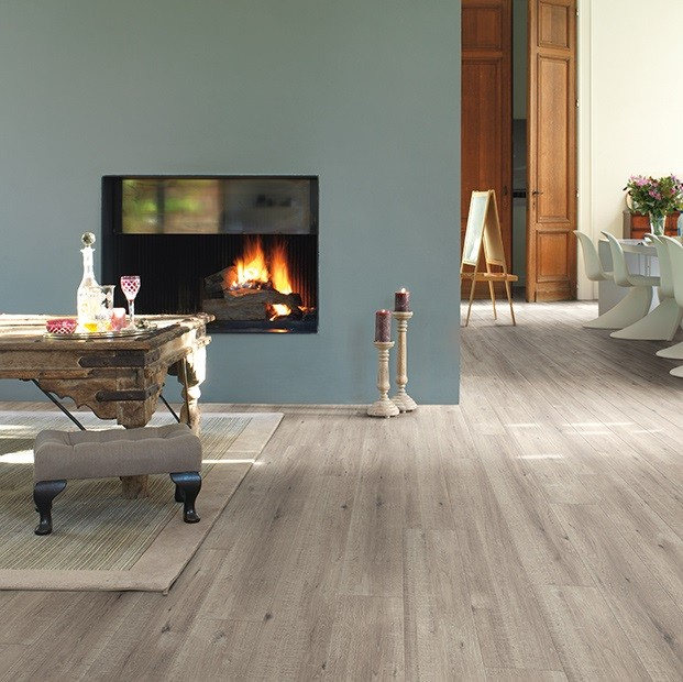Quick Step Laminate | Impressive | Saw Cut Oak Grey IM1858