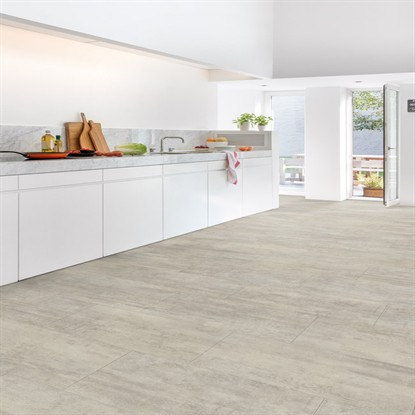 Light Grey Travertin AMCP40047 | Quick-Step Livyn LVT