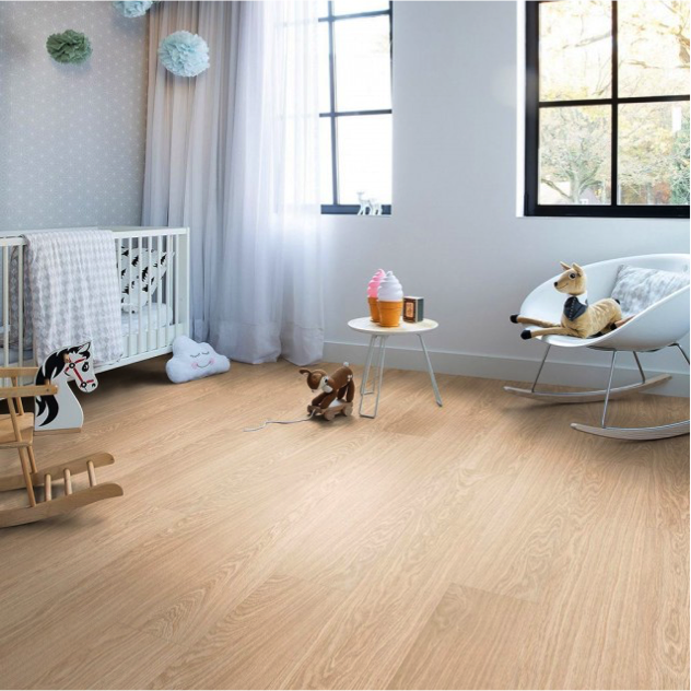 Carefully pick the flooring for your baby's room.