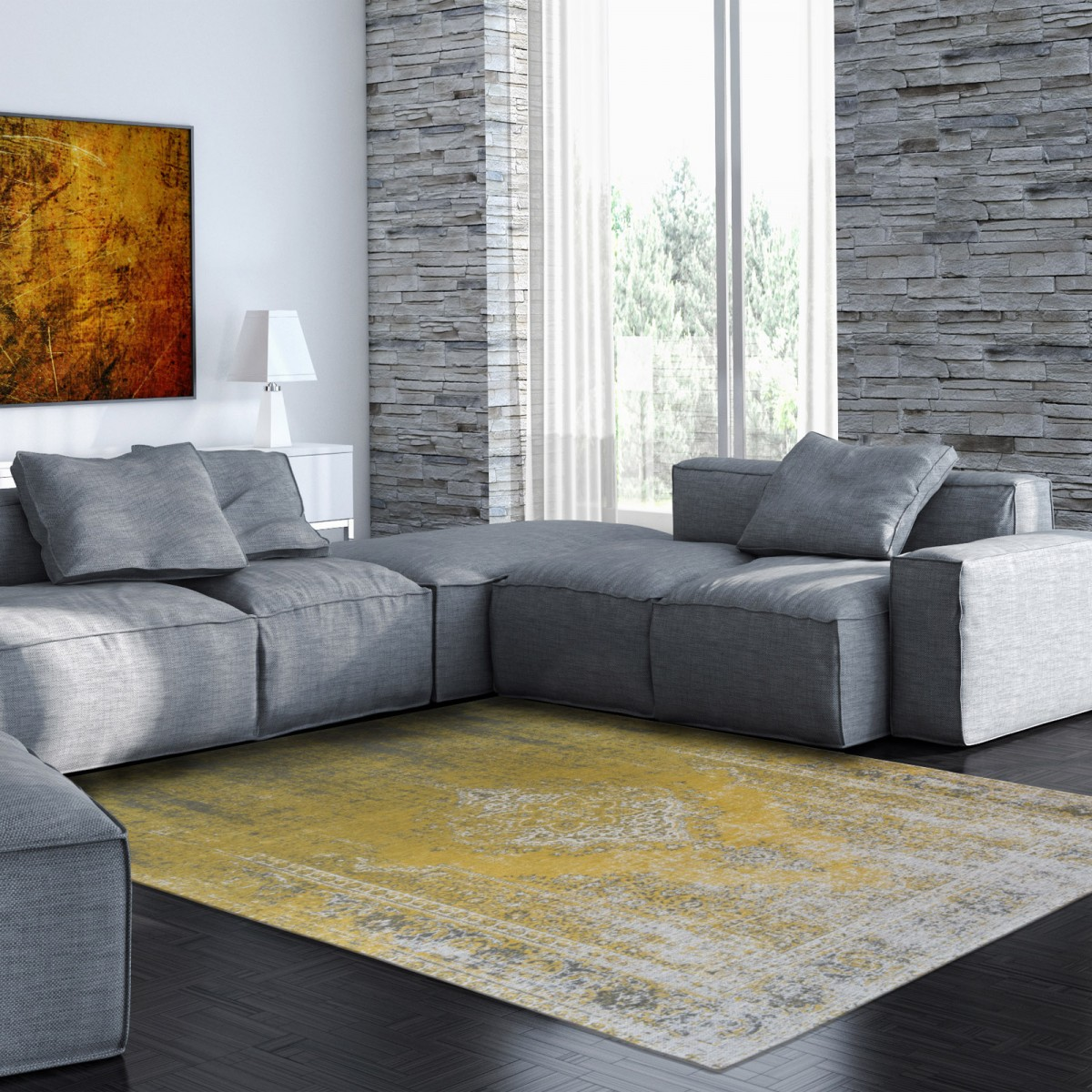 Yuzu Cream 8638 | Louis de Poortere Generation Collection Rugs | Best at Flooring