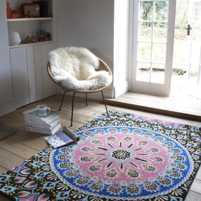 Use large rugs.