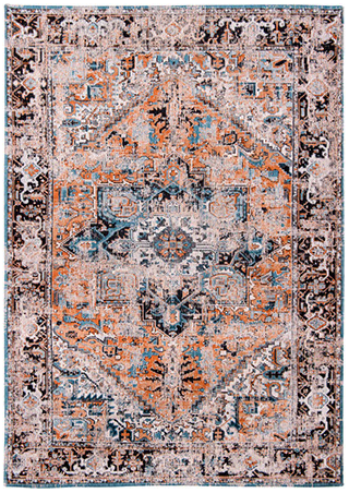 Seray Orange 8705 by Louis de Poortere rug from the Antiquarian Heriz Collection