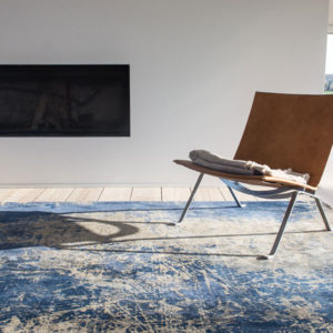 Abyss Blue 8629 | Louis de Poortere Mad Men Cracks Rugs | Best at Flooring