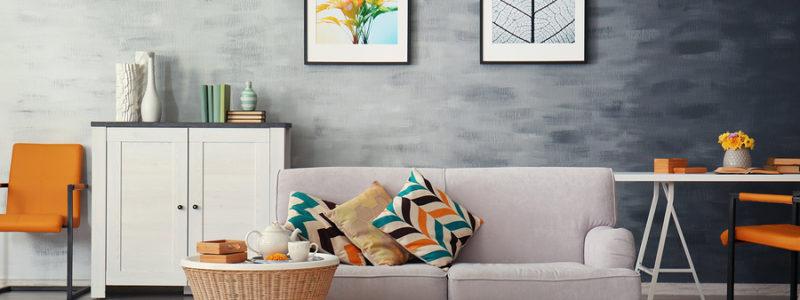 Modern living room with Amtico flooring