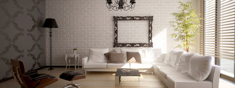 Modern interior with beautiful new decor elements.