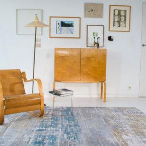 Long Island Blue 8718 | Louis de Poortere Atlantic Streaks Rugs | Best at Flooring